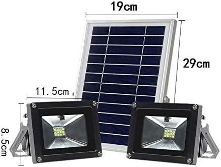 Q-fo Foco Proyector Solar Exterior, Luz De Inundación Solar Hogar ...