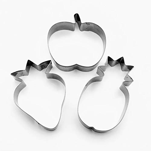 Fruits Cookie cutter Pineapple Strawberry Apple Biscuit Stainless Steel Baking Mold Set ()