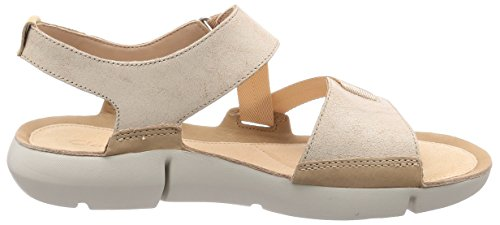 cheap sale fashionable Clarks Women's Tri Clover Sling Back Sandals Beige (Sand Combi) cheap sale many kinds of clearance real latest collections cheap price WPxD6iXyc