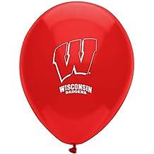 "Pioneer Balloon Company 10 Count University of Wisconsin Latex Balloon, 11"", Multicolor"