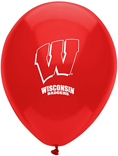 Pioneer Balloon Company 10 Count University of Wisconsin Latex Balloon, 11