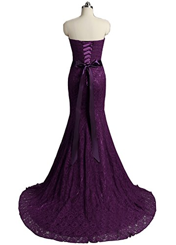 With Evening Prom Long Purple Women's Mermaid Belt Formal Dress Yinyyinhs Lace Dresses 6t1z0ngq