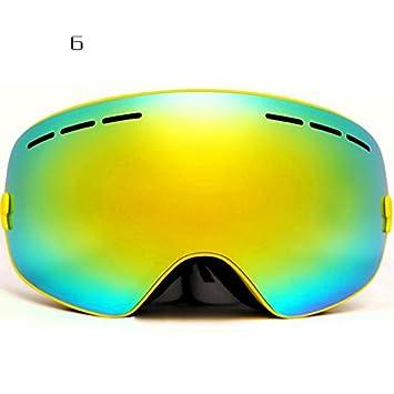 calistouk Snow Skibrille Sport Brille Eyeware Eye Schutz Anti-Fog Doppel-Objektiv für Winter Outdoor Sports Snowboard Schneemobil Skifahren Radfahren Fahren, weiß