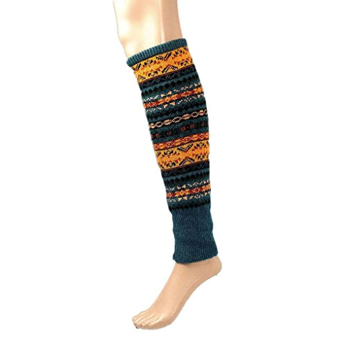 [Mememall Fashion Lady's Knitted Aztec Tribal Long Socks Boho Boots Leg Warmers Knee High Stocking] (Aztec Dancers Costumes)