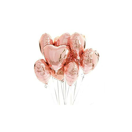 20pcs Mix Rose Gold Balloon Confetti ballon Foil Heart Birthday party Wedding Balloon Decoration,5-18inch-Heart]()