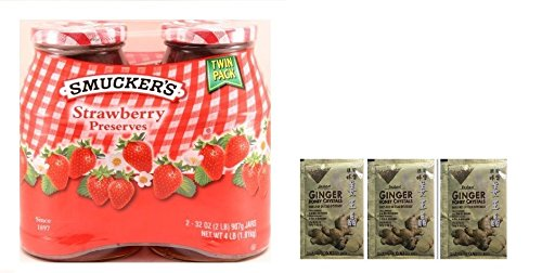 Smucker's Strawberry Preserves 2/32oz. jars Plus a Free Gift Instant Ginger Honey Crystals