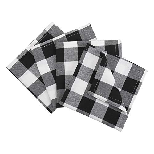 Buffalo Check Plaid Cotton Table Cloth Napkins- Set of 4-20