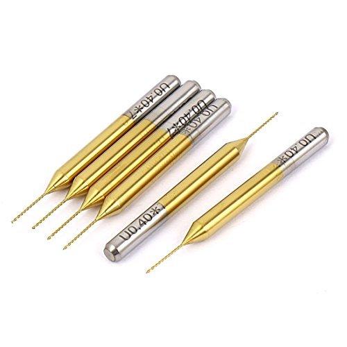 eDealMax 0.4mm x 7mm 1/8 di pollice con codolo TiN rivestiti in metallo duro CNC PCB Micro Bits Drill 6pcs by eDealMax