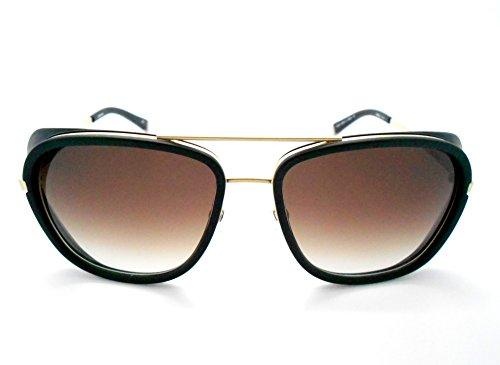 Matsuda M3023 Iron Man Matte Gold Plate Aviator - Zeiss Aviator Sunglasses