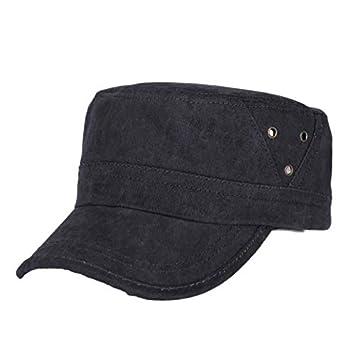 Gorras de Hombre SUNNSEAN Sombrero de Gorra de Algodón Estilo Vintage Clásico Militar Hombres Gorras Planas