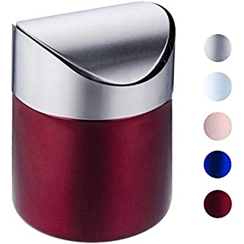 Amazon Com Estilo Mini Countertop Trash Can Brushed