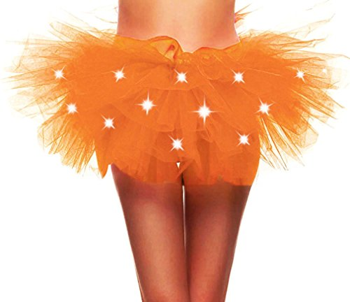 Toppers Womens Adult Fairy Princess LED Light up 5 Layered Tulle Tutu Skirt