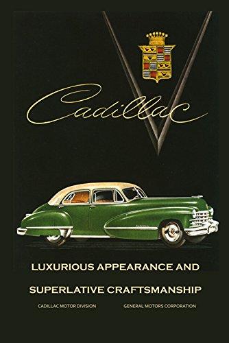 Amazon Com Green Luxurius Cadillac General Motors Gm Vintage Poster