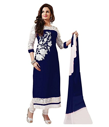 RUHANI Women's Anarkali Salwar Kameez Designer Indian Dress Bollywood Ethnic Party One Size Blue