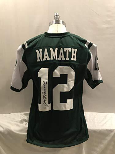 Joe Namath Signed Jersey Novelty Custom Jersey Pro Style NO LOGOS NO TAGS NO PATCHES … Autographed Custom Men XL Jersey