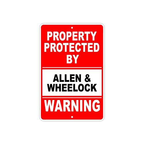 Protected by ALLEN & WHEELOCK Gun Pistol Rifle Revolver Ammo Aluminum 8
