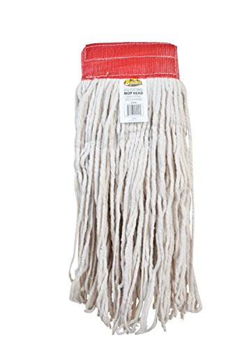 Bristles Wet Cut End Mop Head Replacement, Pack of 12 (32#, White) by Bristles