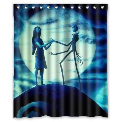 jack skellington the nightmare before christmas SKCASE Custom shower curtain 60x72 inch