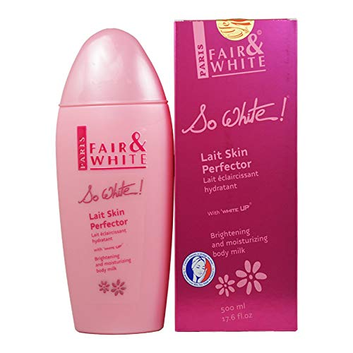 - Fair & White So White Skin Perfector Body Lotion - Brightening & Moisturizing Body Milk with 1.9% Hydroquinone, 500ml / 17.6fl.oz.