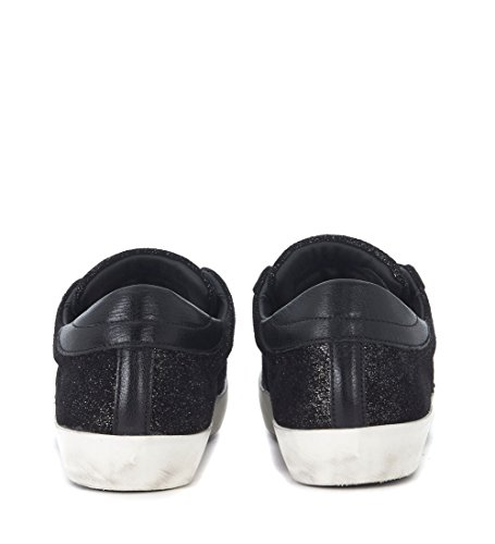 Paris Sneaker and PHILIPPE Black Glitter MODEL Woman's Black Leather H0HwpEqr