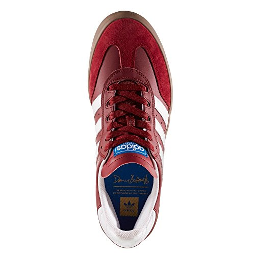 adidas Herren Busenitz Vulc RX Skaterschuhe, 40,5 EU rot (Buruni/Ftwbla/Gum5)