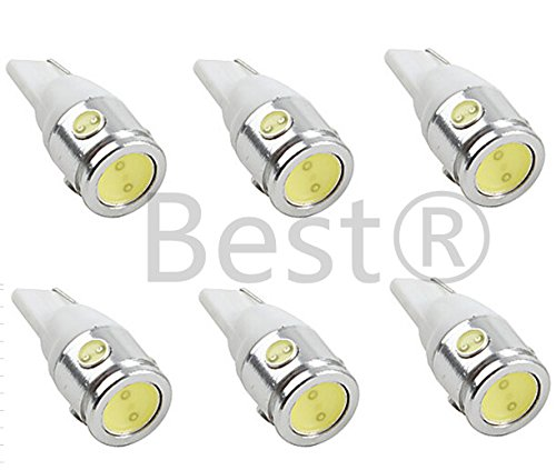 Best to Buy (6-PACK) SCool WHITE Bulb T5 Wedge 2.5W 360Deg LEDs for Malibu 12V AC Landscape