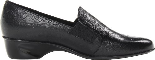 Walking Patent Tooled Cradles Croc Donna Teri Black Leather Mocassini FrWFpY