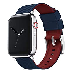 Image of the product Navy Blue & Crimson Red that is listed on the catalogue brand of Barton Watch Bands.