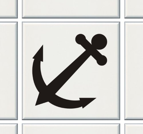 12X Anchor Tile Transfers Stickers Kitchen Bathroom Many Colours For 6″ Or 4″ – To Fit 4″ Tile – White