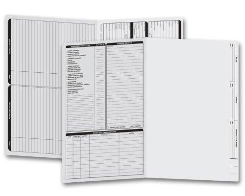 EGP Legal Size Real Estate Listing Folder Left Panel, 50 Folders, Grey by EGPChecks