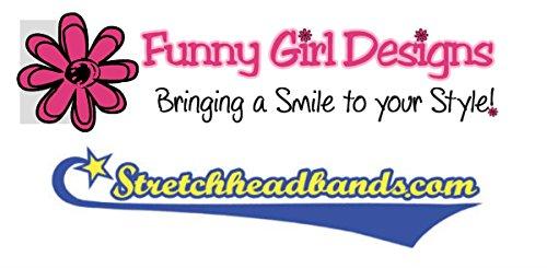 1 DOZEN 2 Inch Wide Cotton Stretch Headbands OFFICIAL FUNNY GIRL DESIGNS HEADBANDS (Official Funny Girl Maroon) by Funny Girl Designs (Image #6)