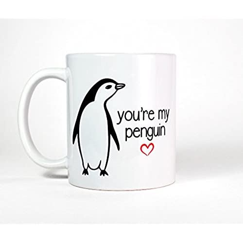 Most Toasty Youu0027re My Penguin Coffee Mug, Cute Valentines Day Gift Tea Cup,  15 Ounce, White