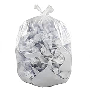 Yubine Clear Large Trash Bags, 39 Gallon Lawn and Leaf Bags, 65 Counts
