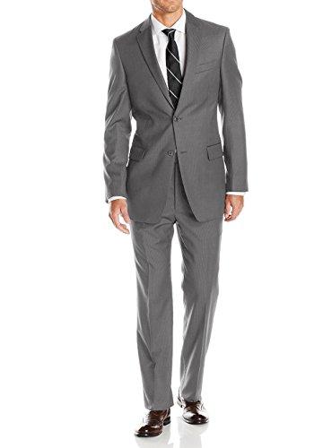 LN LUCIANO NATAZZI Mens Suits 2 Button Modern Fit Side Vent Narrow Stripe Suit (50 Long US / 60L EU/W 44