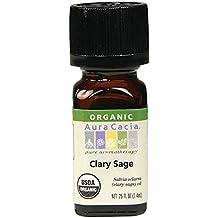 Aura Cacia Organic Essential Oil, Clary Sage, 0.25 Fluid Ounce