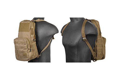 Lancer Tactical Airsoft MOLLE Hydration Carrier Backpack - TAN