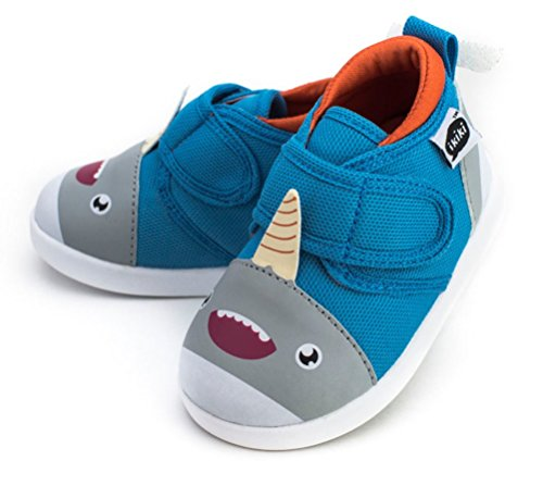 ikiki Sascha Narwhalski Squeaky Shoes for Toddlers w/Adjustable Squeaker, Size 4 -