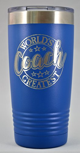 "COACH GIFT ~ Engraved ""World's Greatest Coach"" Stainle"