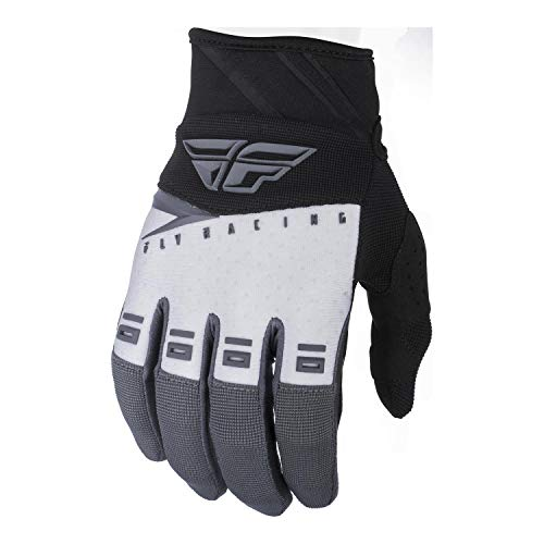 Fly Racing F-16 Race - Fly Racing 2019 Youth F-16 Gloves (LARGE) (BLACK/WHITE/GREY)