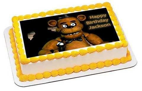 Five Nights at Freddy's 2 Edible Birthday Cake OR Cupcake Topper - 7.5 x 10' rectangular inches