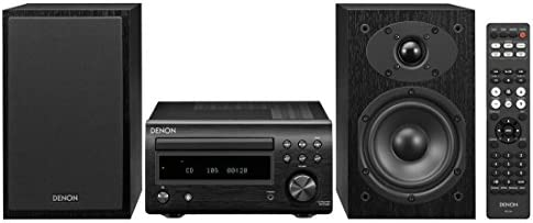 Denon D-M41 Residence Theater Mini Amplifier and Bookshelf Speaker Pair – Compact HiFi Stereo System with CD, FM/AM Tuner and Wi-fi Bluetooth Music   Excellent for Small Rooms and Residence Cinema