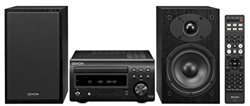 Denon System with Bluetooth FM/AM Tuner CD Player Black (DM41SBK)