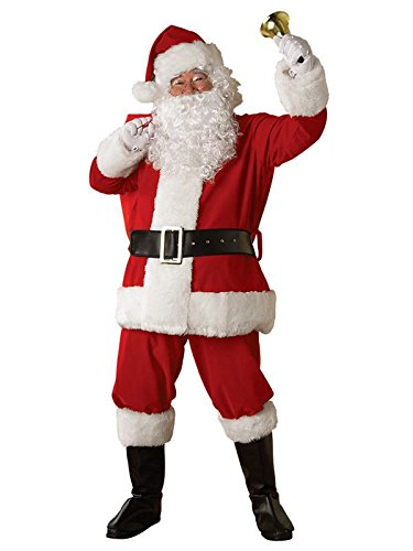 (Rubie's Regal Plush Santa Suit,Red/White,)