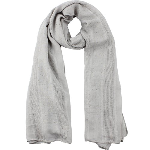 Soft Wrap Shawl Fashion Scarf for Women Cotton Shawls and Wraps for Evening Wedding Solid Color Light Grey by Muryobao