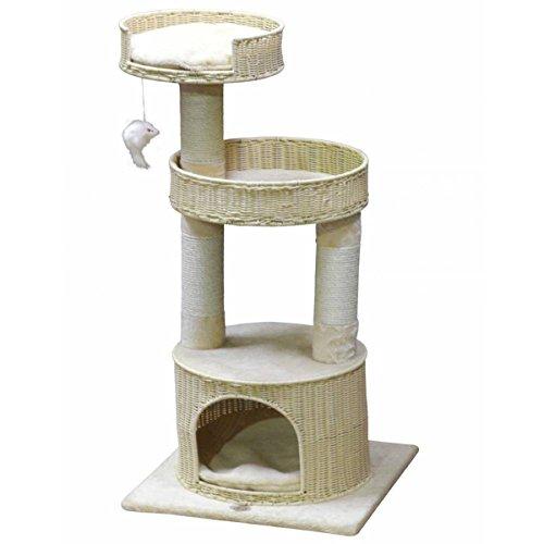 GoPetClub Hand Craft Rattan Wicker Cat Tree