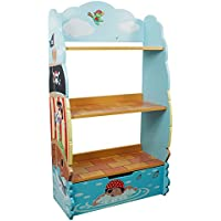 Fantasy Fields - Pirate Island Thematic Kids Wooden Bookcase with Storage | Imagination Inspiring Hand Crafted & Hand Painted Details | Non-Toxic, Lead Free Water-based Paint