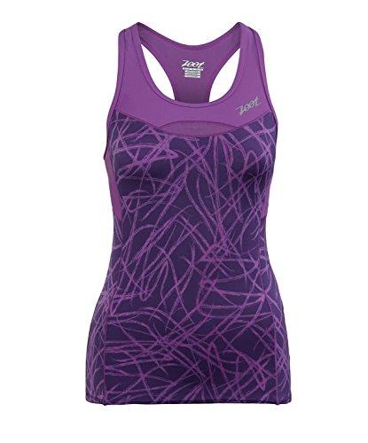 ZOOT SPORTS Women's Performance Tri Racerback, Small, Purple Haze Static (Sonnenbrille Triathlon)