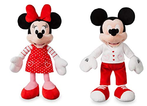 (Valentine Disney - 2019 Mickey and Minnie Mouse Plush Set Day - Small - 15'' Each)