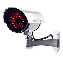 JOOAN CCTV Security Fake/Dummy Camera Outdoor Bullet Camera with 30 Units Illuminating LEDs