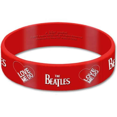 The Beatles- Rubber Bracelet Wristband - Logo - UK Import - Licensed New In Pack